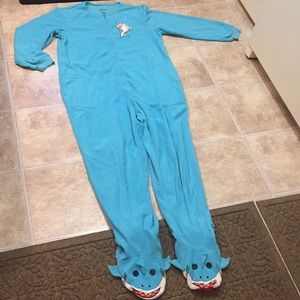 3 for $15* Nick and Nora Shark Footsie Pajamas
